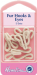 H402.BE Fur Hooks and Eyes: Beige - Size 3